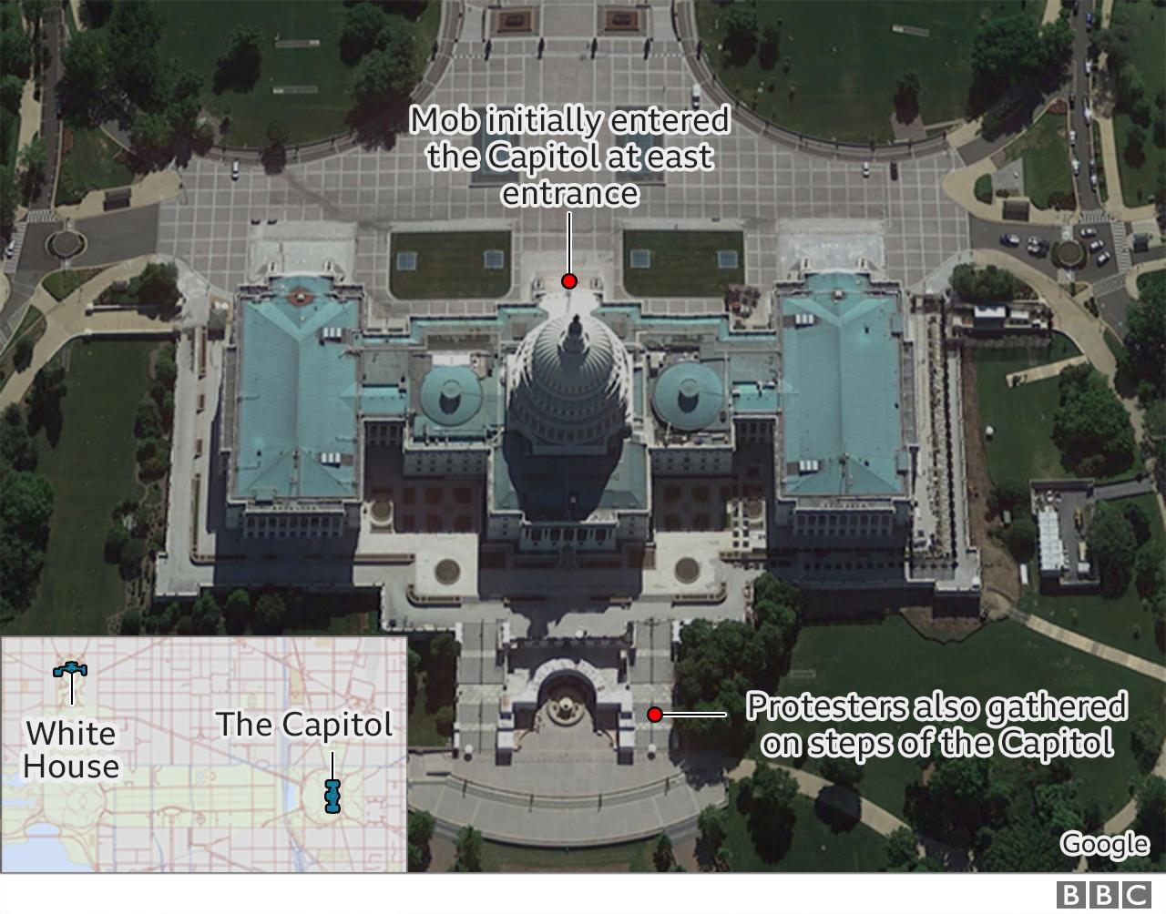| أعمال الشغب في الكابيتول:الكونجرس يقر فوز جو بايدن بعد الاضطراب العنيف