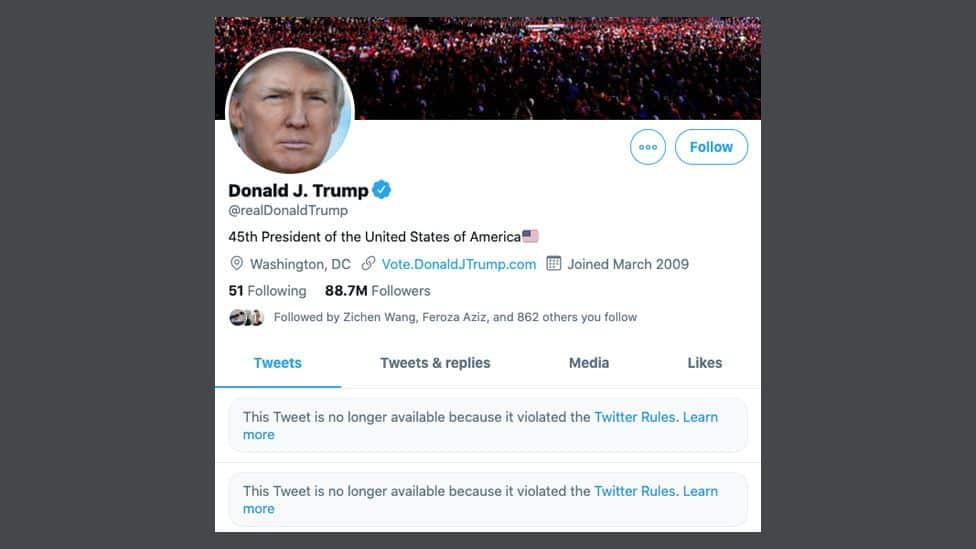 | نهاية درامية لترامب فى عام 2021 على تويتر