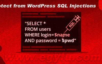 خطوات حماية موقعك من الاختراق عن طريق حقن SQL – وردبريس