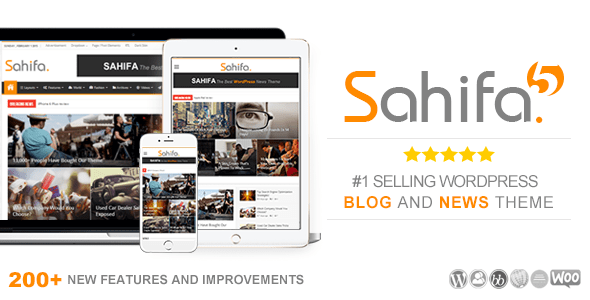 تحميل قالب صحيفة Sahifa الإصدار الخامس | الأفضل والأكثر مبيعاً علي الإطلاق